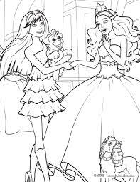 Coloriage Barbie Princesse Et Pop Star