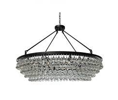 celeste extra large glass drop crystal chandelier black