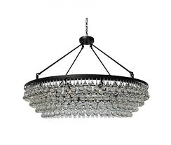 celeste extra large glass drop crystal chandelier black 12 lights