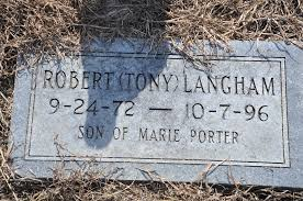 """Robert Anthony """"Tony"""" Langham (1972-1996) - Find A Grave Memorial"""