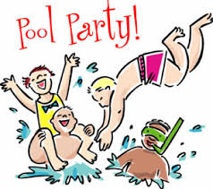 Image result for SWIMMING PARTY clip art