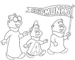 Small Picture Alvin and the chipmunks coloring pages cartoon ColoringStar