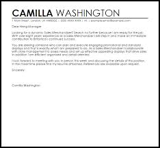 Visual Merchandiser Cover Letters Sales Merchandiser Cover Letter Sample Cover Letter