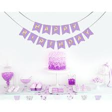 Purple Happy Birthday Banner Lavender Purple Happy Birthday Banner With Hanging Clips For Easy