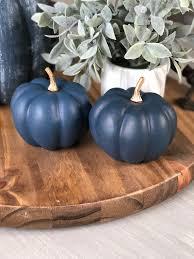 knock off target dollar spot pumpkins using dollar tree pumpkins and navy paint for an easy