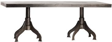 double pedestal dining table base. industrial metal double pedestal dining table base l