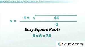quadratic formu math how to use the quadratic formula to solve a quadratic equation lesson