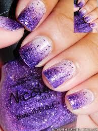 Faded Purples Nails Uñas Moradas Uñas Degradadas A Uñas Con Brillo