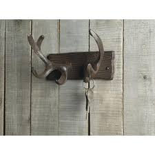 Decorative Wall Mounted Coat Rack Inspiring Cast Iron Deer Antlers Decorative Wall Hooks Mounted Coat 100