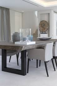 appealing gray rectangle unique wooden modern dining room tables stained  design