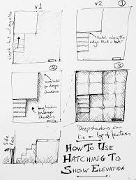 Dungeon Design Tips How To Use Hatching To Show Elevation On A Map Fantasy Map