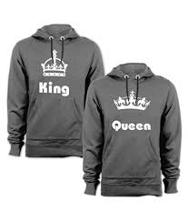 anniversary gifts wedding gifts love gifts gifts for couples king queen drifit regular fit round neck sweatshirt for couple set of 2 at