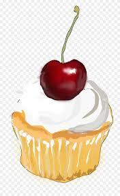 Muffin Cupcake Tartlet Cherry Whipped Cream Clipart Of