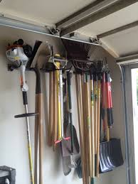 how to organize garden tools in garage designs