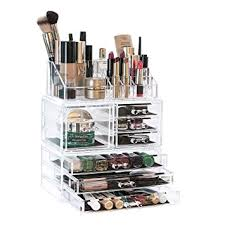 arnais beauty acrylic makeup organiser storage 3 tier stackable cosmetic units great for displaying make