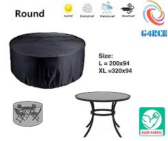 round garden furniture rattan outdoor patio lounge table set waterproof cover uk