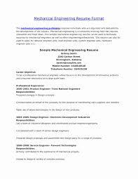 Mechanical Engineer Resume Sample Lovely 20 Resume For Mechanical ...
