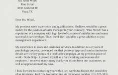 √ Simple Job Cover Letter Examples 2018