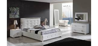 coco white leather storage bed queen or king bedroom set dupen spain
