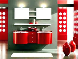 Red Bathroom Design Pictures Bath Accessories Set Black Sets And