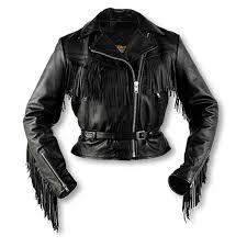 women s interstate leather fringe jacket
