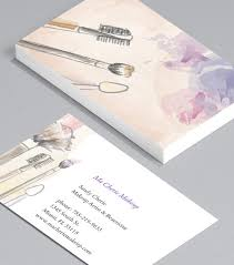 add a personal feel with sketches makeup artist business cards