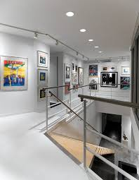 art gallery track lighting. art gallery decorating staircase modern with floating traditional track heads lighting
