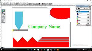 Page Maker Design Images How To Design A Simple Visiting Card In Page Maker Youtube