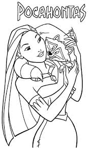 Small Picture Disney Pocahontas Coloring Pages GetColoringPagescom