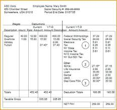 Payroll Pay Stub Template Free Free Pay Stub Template With Calculator Payroll Excel Stubs