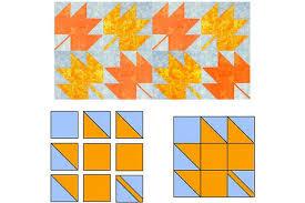 Easy Maple Leaf Quilt Block Pattern &  Adamdwight.com