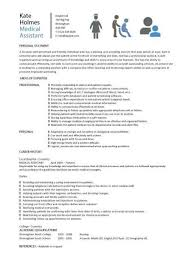 Resume Examples For Medical Assistant Stunning Medical Assistant Resume Samples Template Examples CV Cover