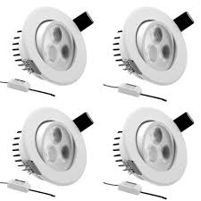 le pack of 4 units 3w 3 inch led recessed lighting 30w halogen bulbs equivalent led driver included 250lm warm white 3000k recessed ceiling lights