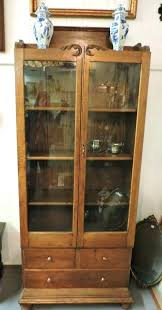 tall bookcase with glass doors bookcase bookcase with doors and drawers found in a antique oak