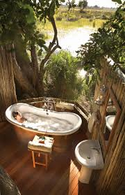 A protected space outside can make a superb location Cool outdoor bathtub  at the Eagle Island Camp, one of the Orient Express Safari Camps in the  Okavango ...
