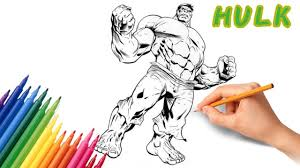 The hulk color scheme palette has 2 colors which are android green (#a2cd48) and razzmic color space information #008000 | hulk green. Hulk Colouring Pages Coloring Book How To Color Avengers Coloring Kids Youtube