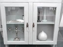 bathroom cabinet glass doors