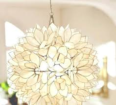 light pendant lotus flower chandelier by roost shell within capiz e77