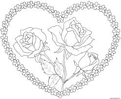 Coloriage St Valentin Dessin Imprimer Gratuit