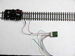 wiring light emitting diadoes now you can see the orange and grey wires going to the motor at this point this is all you would need to do to get your train running on dcc
