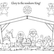 Small Picture Printable Coloring Pages Nativity Coloring Pages