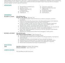 Aircraft Mechanic Resume Sample Download Aircraft Technician Resume