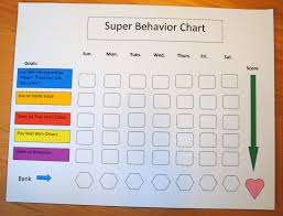 Good Behavior Chart For 10 Year Old 10 Best Images Of Printable Behavior Charts