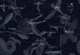 Pegasus Star Chart The Constellation Pegasus In The Sky Org