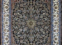 slimi dark royal blue isfahan silk persian rug item 794