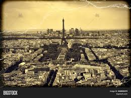 It has 6 million visitors a year and is the most photographed place in france. Panorama Eiffel Tower In Paris France Vintage View Tour Eiffel Old Retro Style Image Stock Photo 245904472