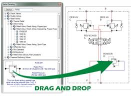 manifold software simplifies design (web exclusive) hydraulics  this schematic shows hydraulic manifold design and component configuration using easyvalve click on image for larger view Free Designing Wiring Schematic Softwear