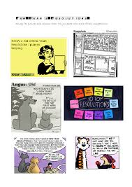 Year's Resolutions - Speaking, Reading and Vocabulary Practice for ...