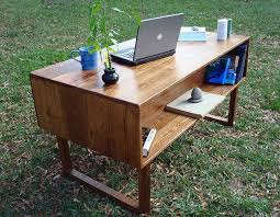 wood desks home office. Reclaimed-wood-home-office-desk Wood Desks Home Office