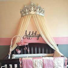 Crown Canopy Wall Decor Bed Canopy Crown Wall Decor In Silver With ...